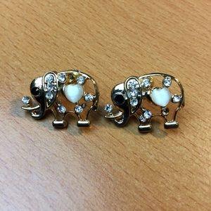 New Sweet Elephant Stud Earrings